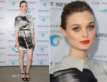 Bella Heathcote In Mary Katrantzou - 'Helmut Newton: White Women – Sleepless Nights – Big Nudes' Opening