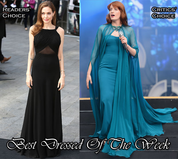 Best Dressed Of The Week  - Angelina Jolie In Saint Laurent & Florence Welch In Gucci