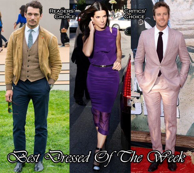 Best Dressed Of The Week - Sandra Bullock In Prabal Gurung, Armie Hammer In Tom Ford & David Gandy