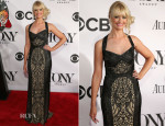 Beth Behrs In  Monique Lhuillier - 2013 Tony Awards