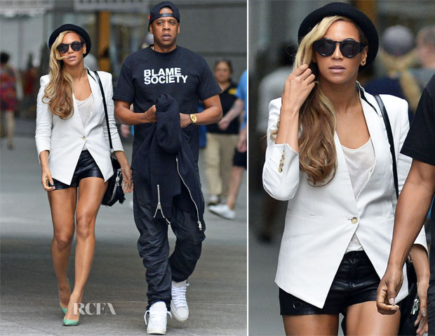 Beyonce Knowles In Helmut Lang - Battery Park