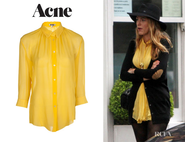 Blake Lively's Acne 'Adeline' Button Up Blouse