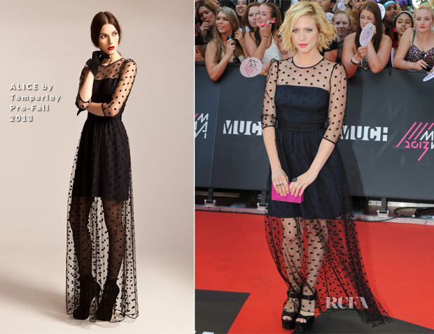 Brittany Snow In ALICE by Temperley - 2013 MuchMusic Video Music Awards