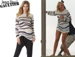 Cameron Diaz' Jean Paul Gaultier Open Knit Sweater
