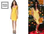 Camila Alves' Herve Leger 'Sydney' Scoop Neck Dress