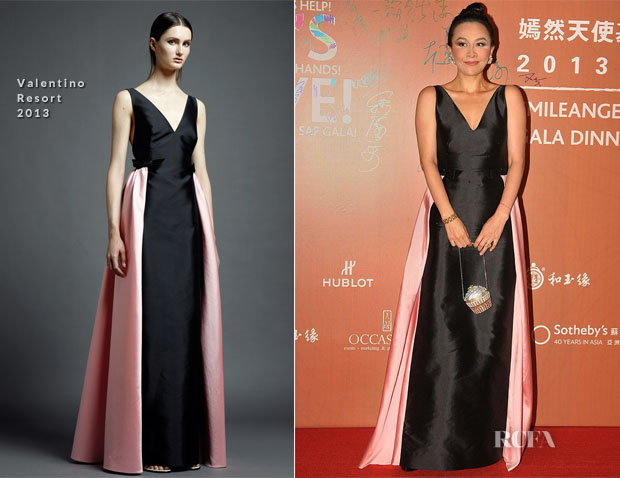 Carina Lau In Valentino - 2013 Smile Angel Foundation Gala Dinner
