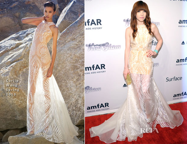 Carly Rae Jepsen In Carlie Wong - 4th Annual amfAR Inspiration Gala New York