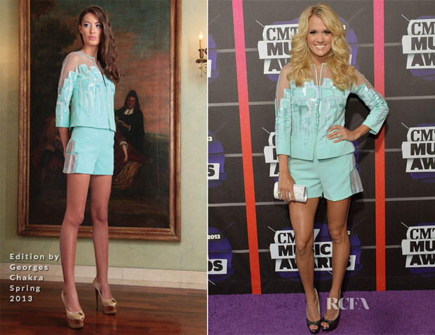 Carrie Underwood In Edition by Georges Chakra - 2013 CMT Music Awards