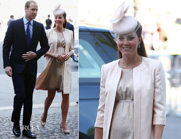 Catherine, Duchess of Cambridge in Jenny Packham – 60th Anniversary of the Queen's Coronation
