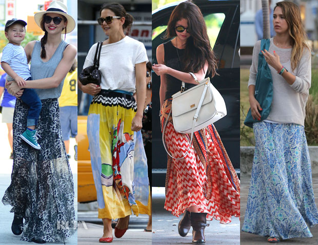 Celebrities Love Printed Maxi Skirts copy