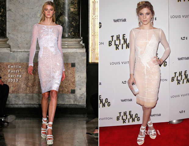 Claire Julien in Emilio Pucci - The Bling Ring New York Screening