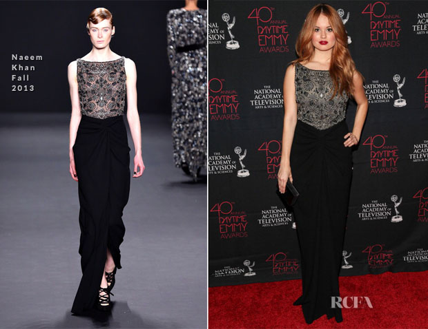 Debby Ryan In Naeem Khan - Daytime Entertainment Creative Arts Emmy Awards 2013
