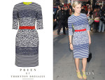 Diane Kruger's Preen Stryder Paneled Stretch-Jacquard Dress