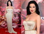 Dita Von Teese In Maria Lucia Hohan - 2013 Fragrance Foundation Awards