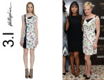Elisabeth Moss' 3.1 Phillip Lim Asymmetric Floral Dress