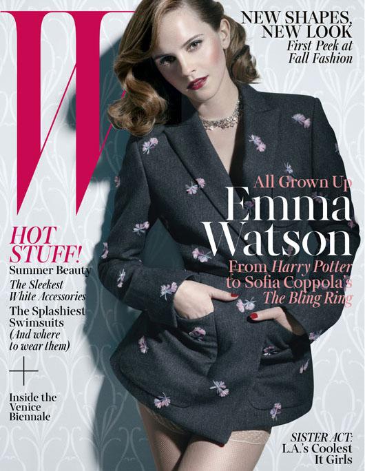 Emma Watson W Mag June July 2013