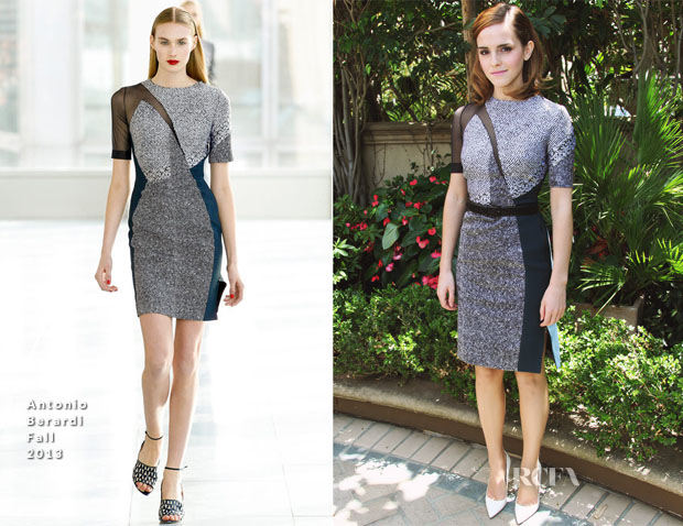 Emma Watson in Antonio Berardi - The Bling Ring LA Press Conference