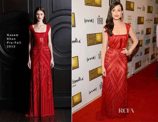Emmy Rossum In Naeem Khan - 2013 Critics' Choice Television Awards