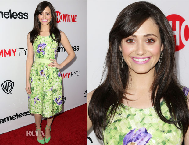 Emmy Rossum In Oscar de la Renta - Showtime's 'Shameless' Screening and Panel Discussion