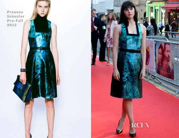 Felicity Jones In Proenza Schouler - 'Breathe In' Edinburgh Film Festival Opening Gala Screening