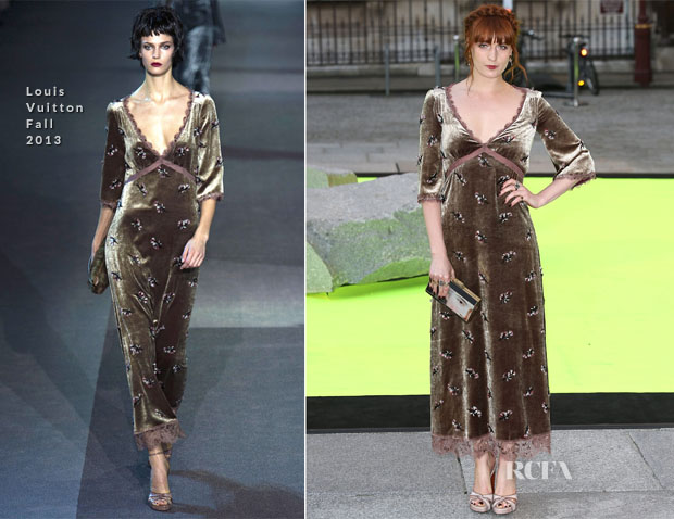 Florence Welch In Louis Vuitton - The Royal Academy Of Arts Summer Exhibition 2013