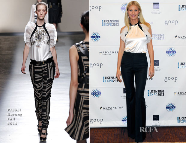 Gwyneth Paltrow In Prabal Gurung - Licensing Expo 2013