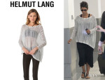 Halle Berry's Helmut Lang Marled Pullover