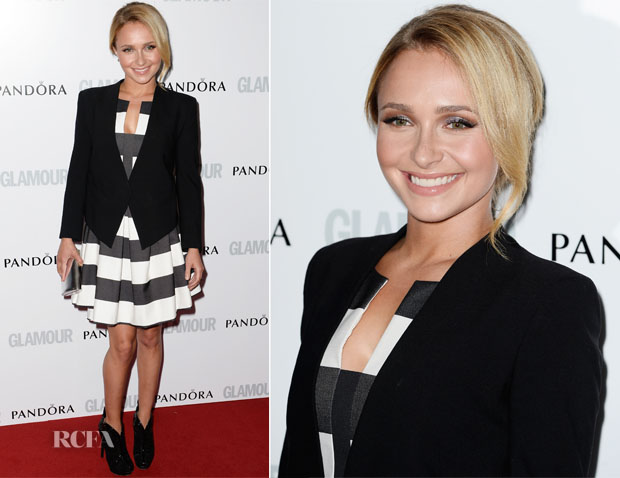 Hayden Panettiere In Black Halo Eve - Glamour Women of the Year Awards 2013