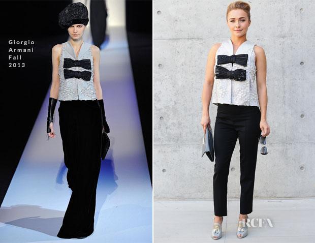 Hayden Panettiere In Giorgio Armani - Giorgio Armani Spring 2014 Menswear Show