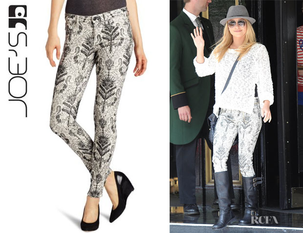 Hayden Panettiere's Joe's Baroque Flocking Jeans