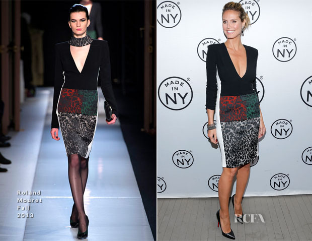 Heidi Klum In Roland Mouret - 8th Annual 'Made In NY Awards'