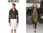 Heidi Klum's Versace Leather Jacket