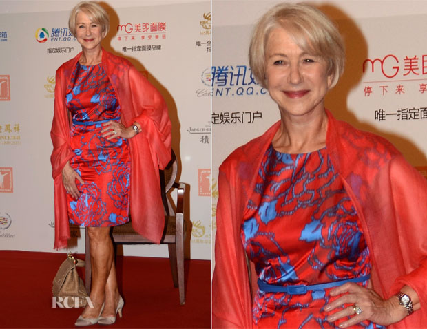 Helen Mirren In Dolce & Gabbana - 16th Shanghai International Film Festival