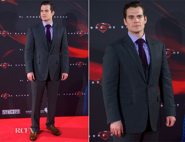 Henry Cavill In Ralph Lauren - Man of Steel Madrid Premiere