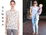 Hilary Duff's Sandro Elliot Top
