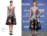 January Jones In Mary Katrantzou - Women In Film's 2013 Crystal + Lucy Awards