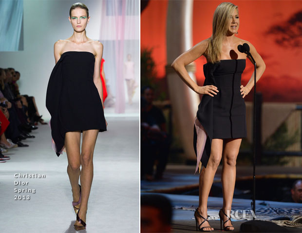 Jennifer Aniston In Christian Dior - Spike TV's 'Guys Choice 2013'