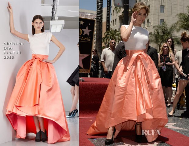 Jennifer Lopez In Christian Dior - Hollywood Walk Of Fame  Unveiling