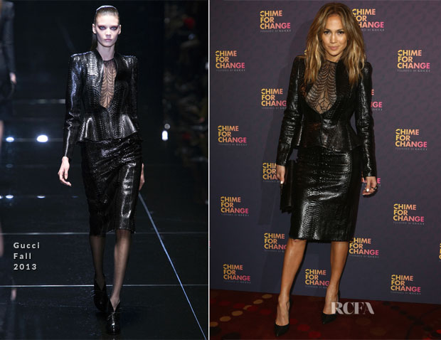 Jennifer Lopez In Gucci - 'Chime For Change The Sound Of Change Live' Media Room
