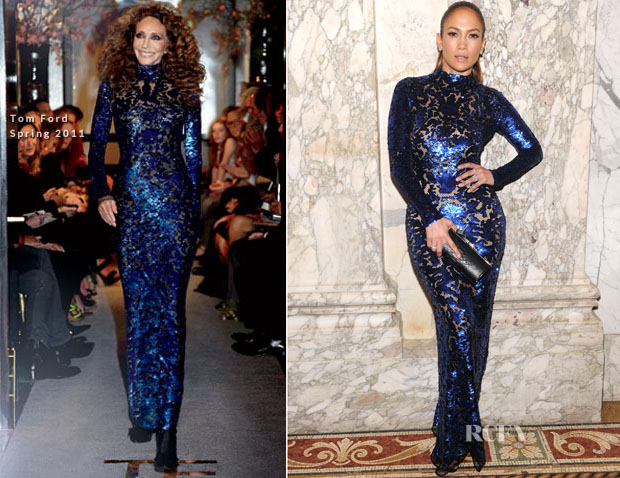 Jennifer Lopez In Tom Ford  - 4th Annual amfAR Inspiration Gala New York