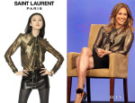 Jennifer Lopez' Saint Laurent Lurex Silk Georgette Shirt