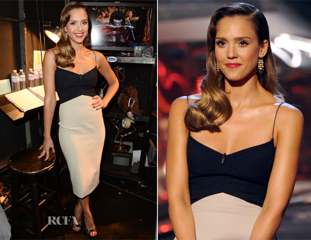 Jessica Alba In Narciso Rodriguez - Spike TV's 'Guys Choice 2013'