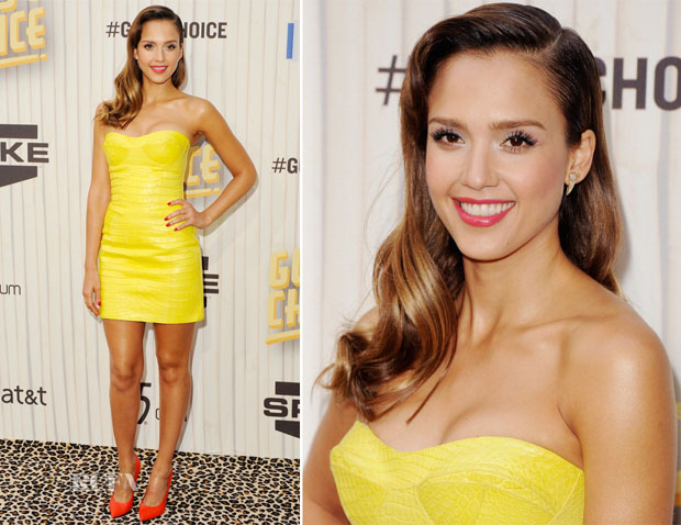 Jessica Alba In Versace - Spike TV's 'Guys Choice 2013'