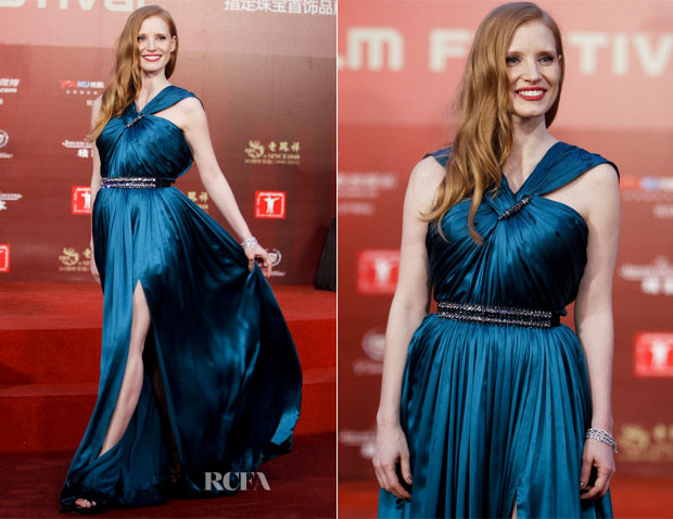 Jessica Chastain In Lanvin - 16th Shanghai International Film Festival Closing Ceremony