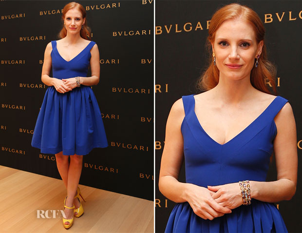 Jessica Chastain In Preen - Bulgari Cocktail Party