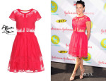 Jessica Seinfeld's Alice + Olivia Papina Embroidered Dress