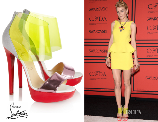 Jessica Stam's Christian Louboutin Dufoura Sandals