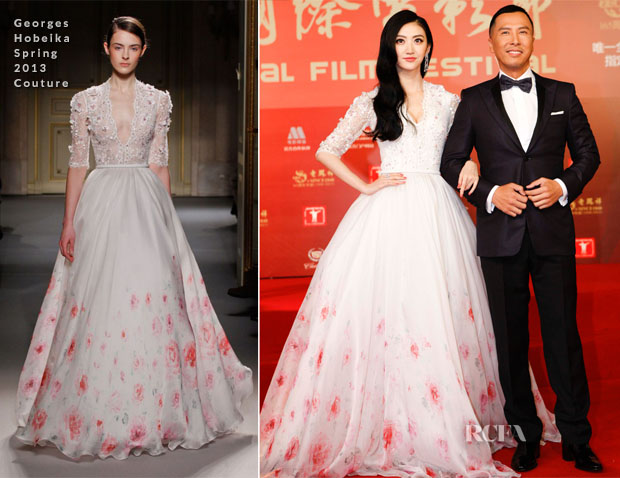 Jing Tian In Georges Hobeika Couture - 2013 Shanghai Film Festival Opening Ceremony