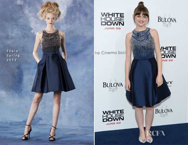 Joey King In Theia - 'White House Down' New York Premiere