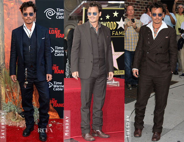 Johnny Depp Loves Double RL Ralph Lauren Stripe Suits